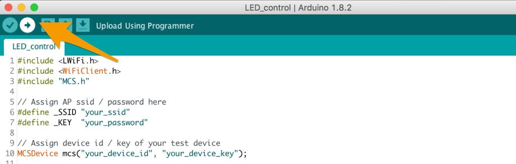 Control LED light remotely · MCS Lite